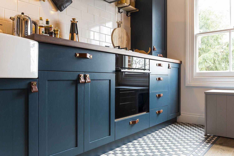 Blue Shaker Kitchen In 2020 Kitchen Cabinets Replacement Kitchen Doors Shaker Kitchen Cabinets