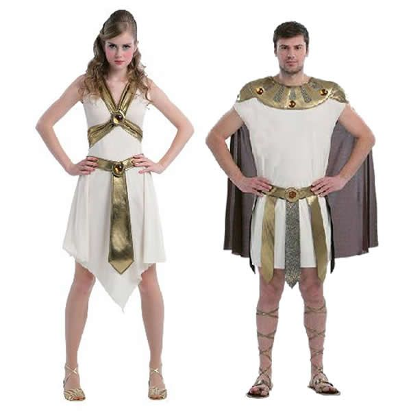 Disfracesmimo disfraz de pareja de romanos hombre y mujer - Fiesta de disfraces ideas ...