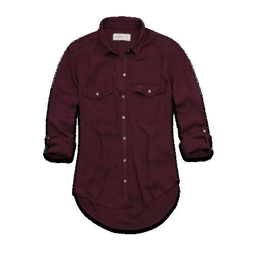 Womens Kira Shirt  - Burgundy