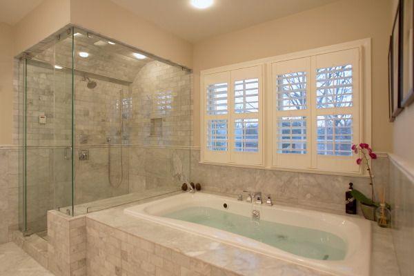 Window Above Tub Luxury Master Bathrooms Bathroom