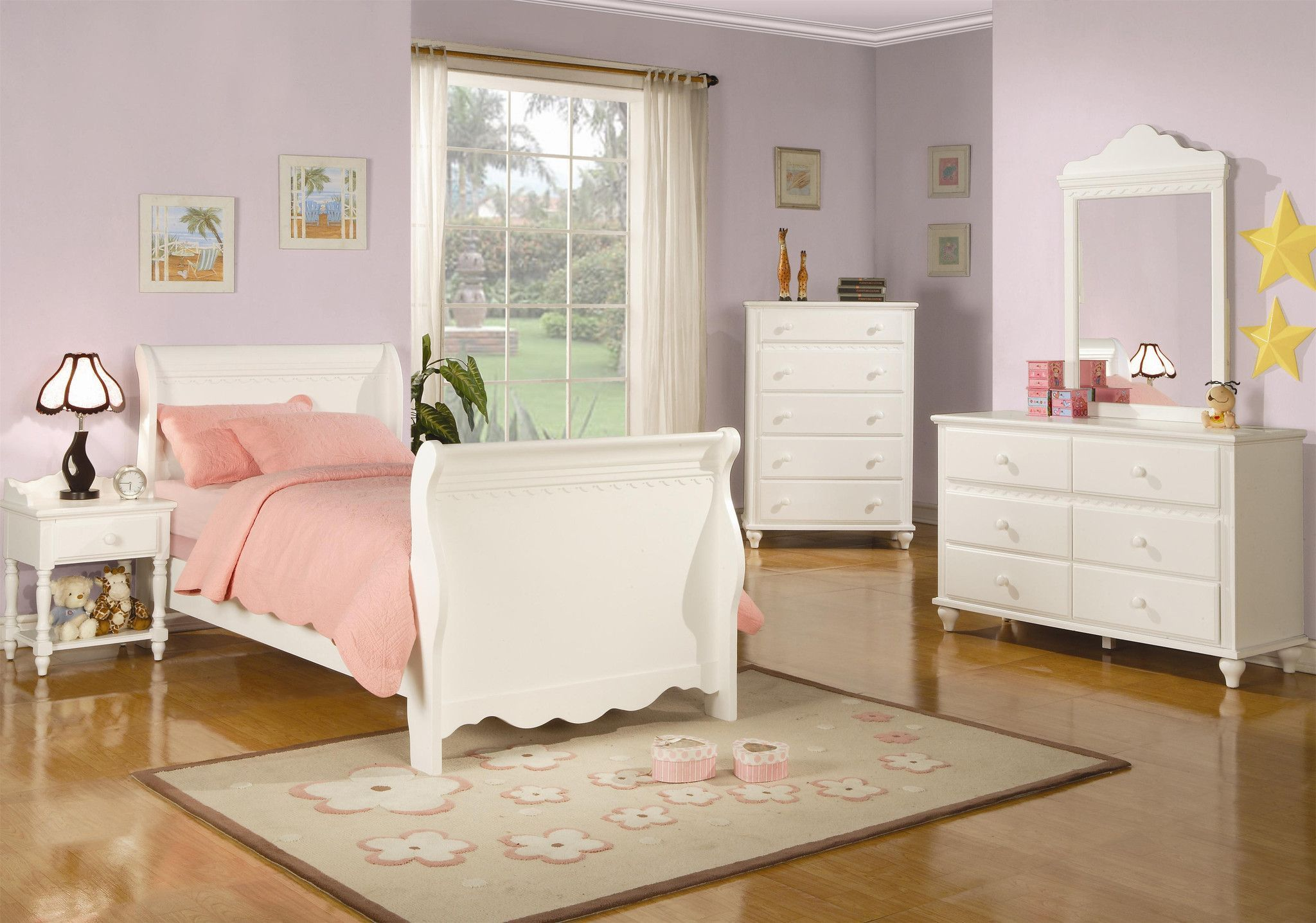 Pepper Sleigh Bed (With images) Antique white bedroom