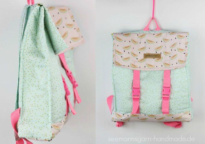 kostenloses schnittmuster sommerrucksack n hen pinterest rucksack n hen n hen und. Black Bedroom Furniture Sets. Home Design Ideas