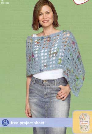 Crochet Poncho LW1520 | Free Patterns | Sewing, Crafting, Crocheting ...