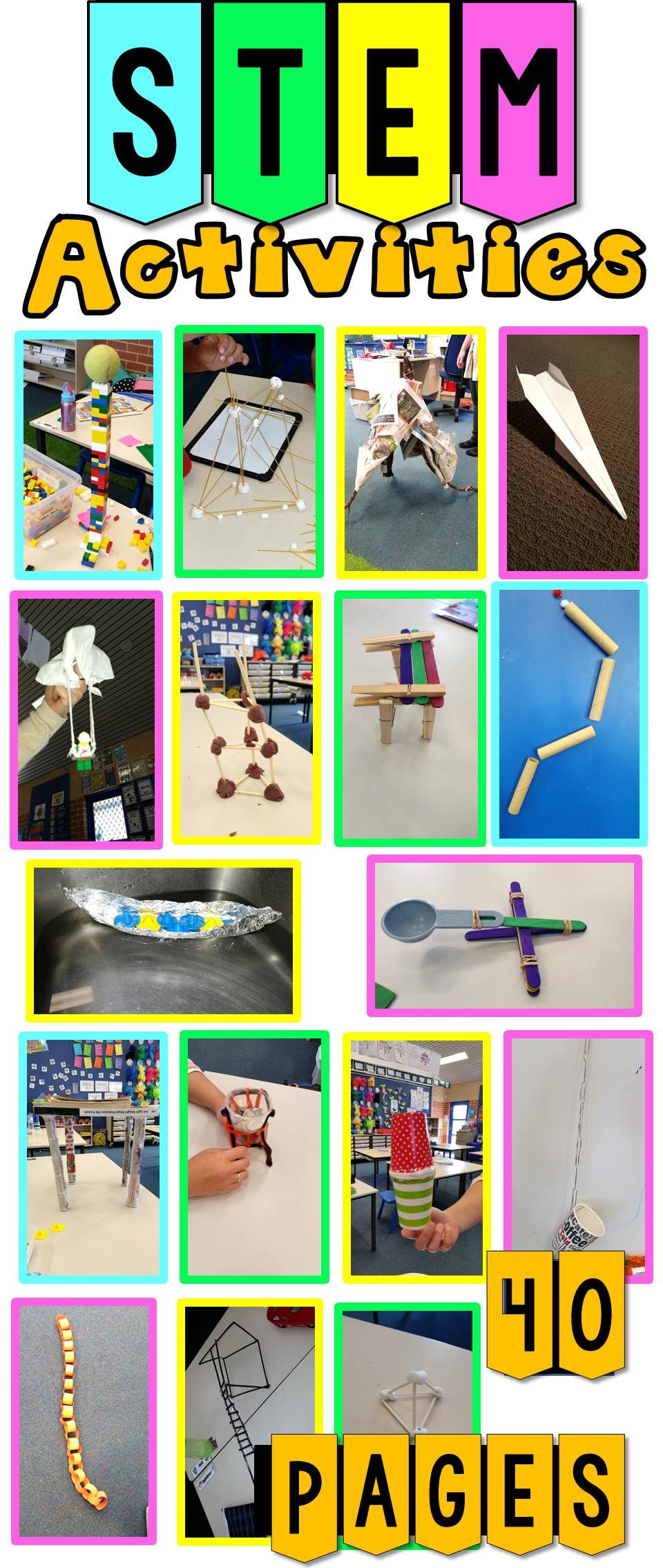 STEM Activities (20 Challenges) Pack 1