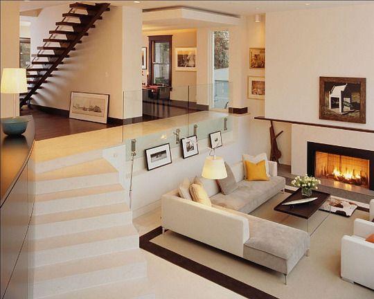 A Sears Kit Home Goes Modern In Alexandria Sunken Living Room Home Dream Living Rooms