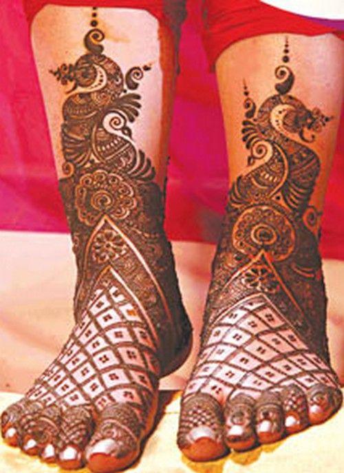 Indian bridal mehndi for feet... fashiondhamaka.com | best ...