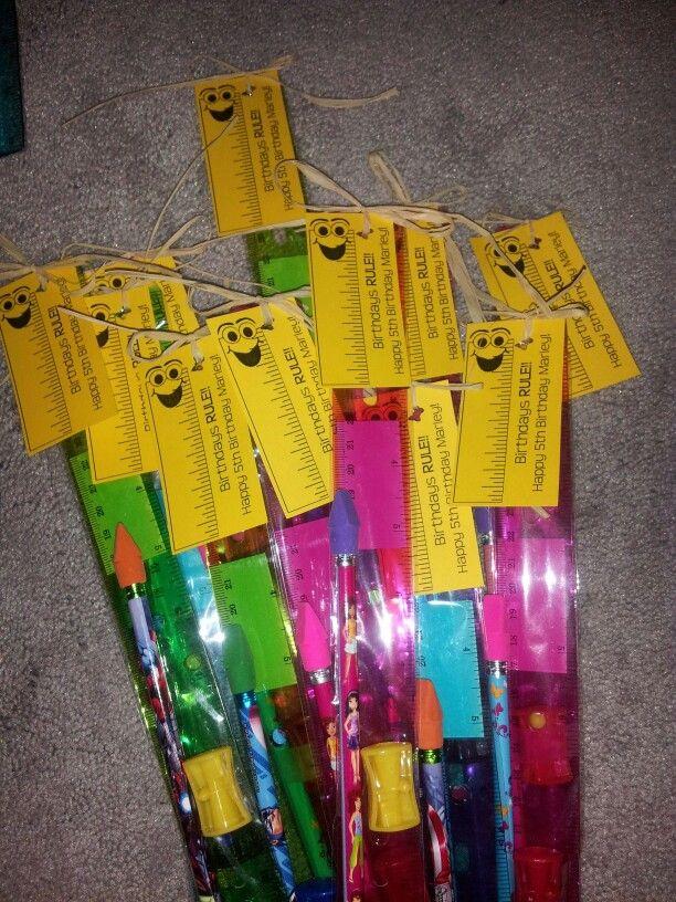 Birthday Treat For Classmates Birthdays Rule Ruler Pencil Eraser And Sharpener Classroom Birthday Treats School Birthday Favors Birthday Treat Bags