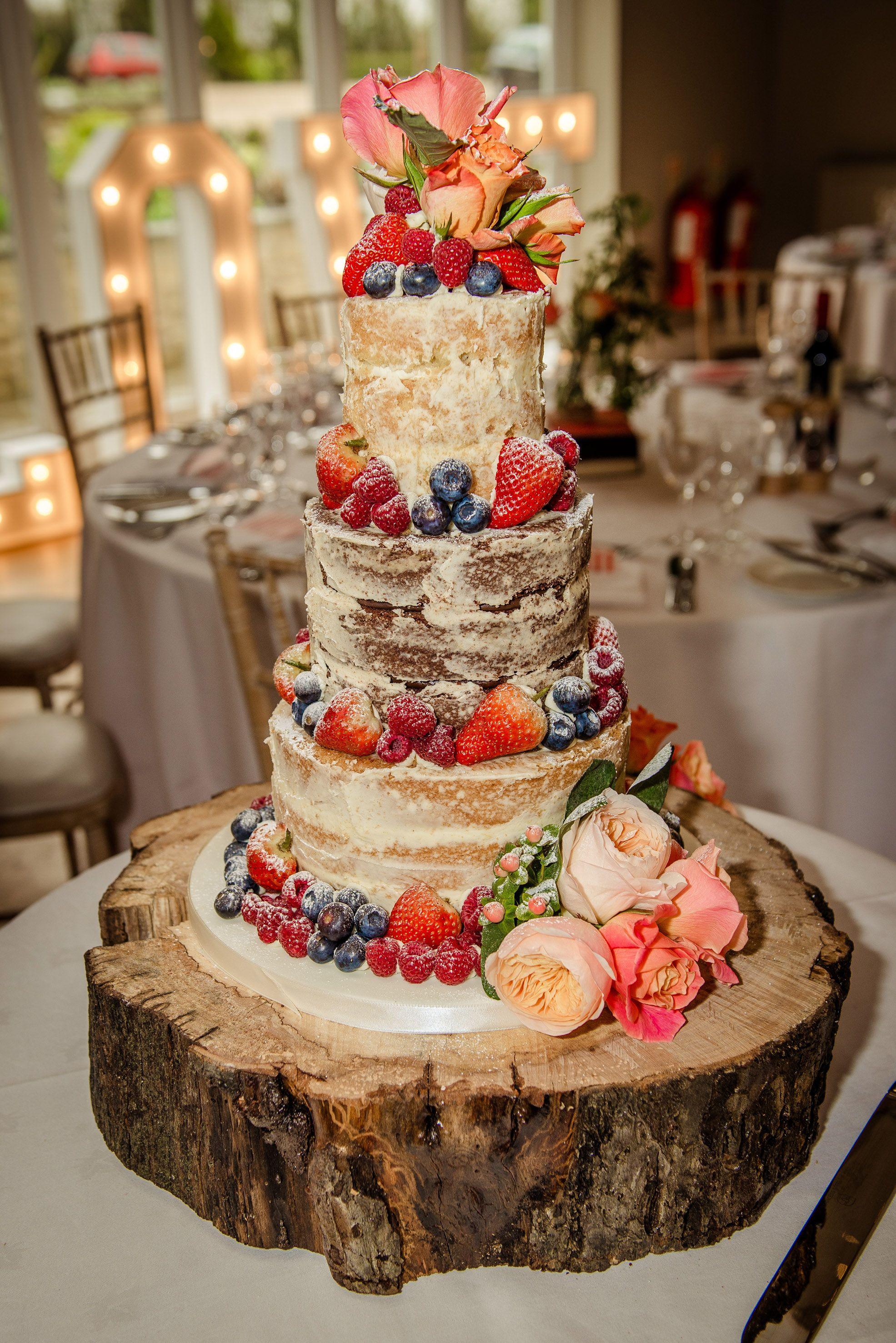 Naked Wedding Cake - rustic / shabby chic | Wedding Cake | Pinterest ...