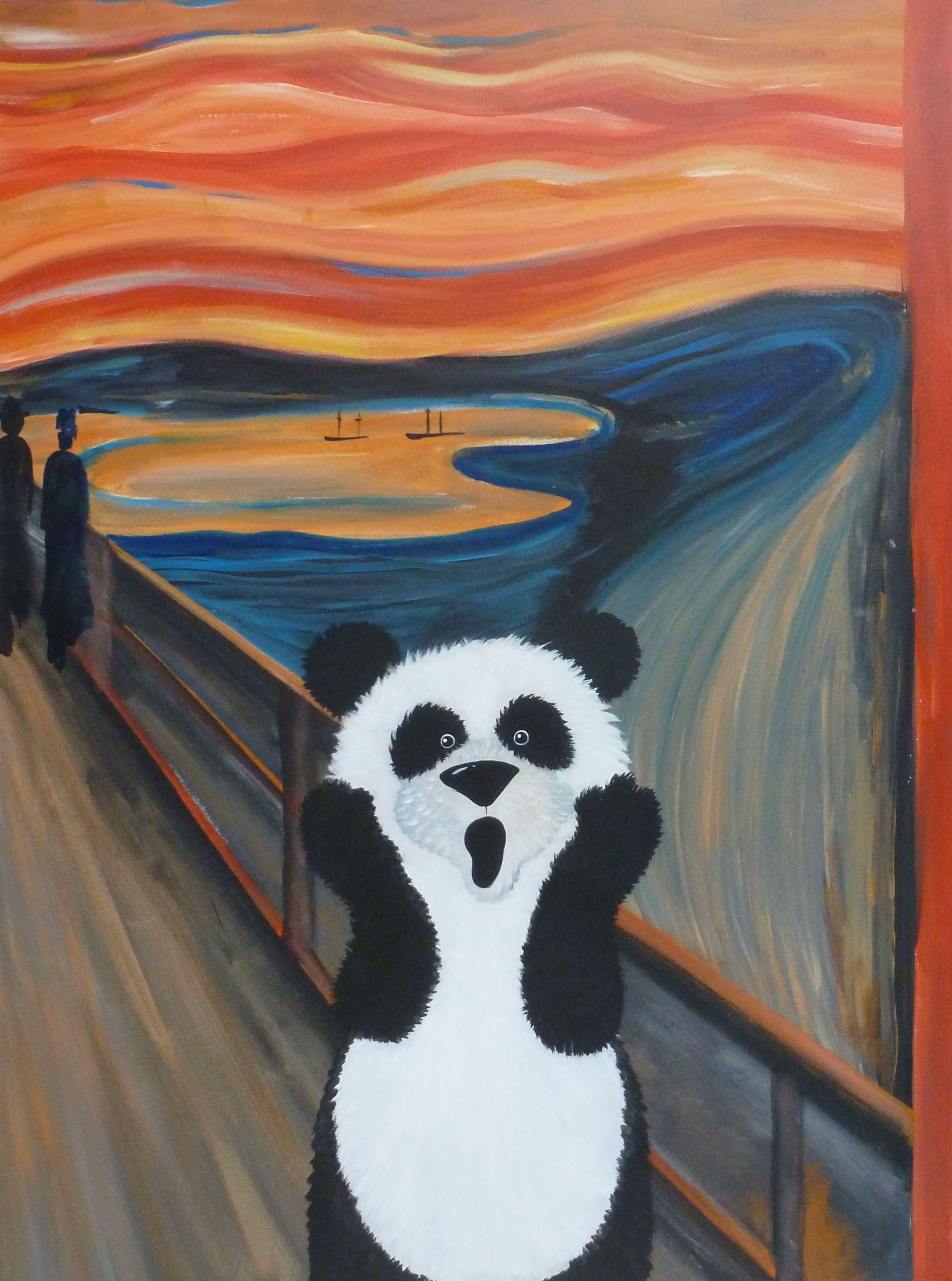 grote-kunst-voor-kleine-kenners | Kunst - Panda art, Art ...