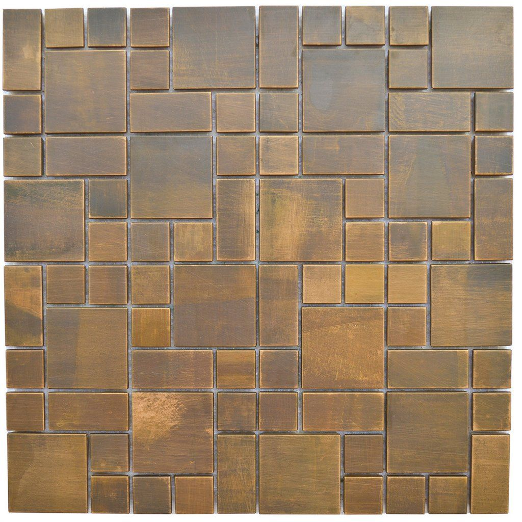 Backsplash And Wall Design Tile   Cobble Pattern Antique Copper Mosaic Tile    EMT_MM20 COP AT   Inspired By The Antique Cobblestone Streets Of Europe,  ...