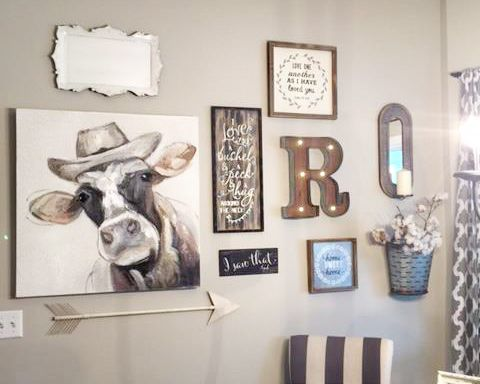 Moooove Over Old Dining Room Better After Kitchen Gallery Wall Cow Kitchen Decor Cow Decor