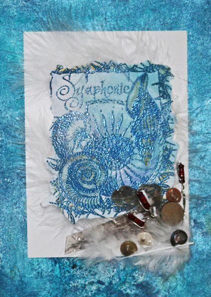 katzelkraft day - Ocean Symphonie - Ein Beispiel für die französische Stempelfirma Kazelkraft - Idee und Umsetzung Daniela Rogall