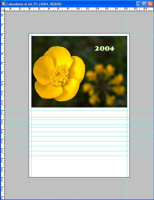 Tutorial. Crear un calendario - Photoshop