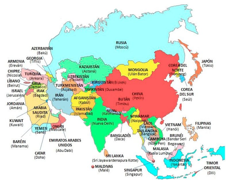 Disclosed Mapa Asia Politico Con Capitales Dibuja El Mapa De Asia