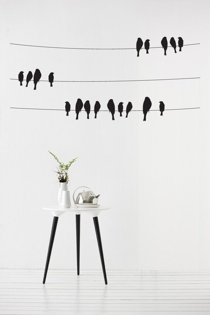 Birds On A Wire Vinyl Wall Sticker Decal Wall Art Vinyl Wall Art Vinyl Wall Stickers