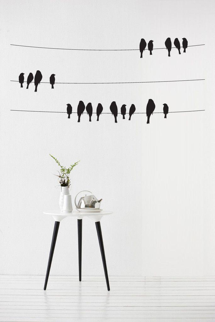 birds on a wire vinyl wall sticker | love it !!! | pinterest | vinyl