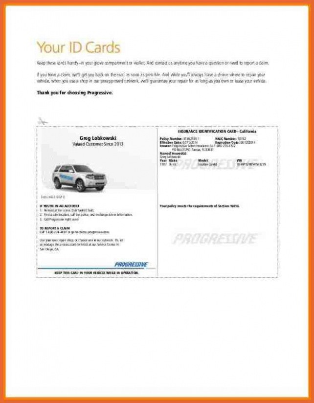 Auto Insurance Card Template Free Download Document Car