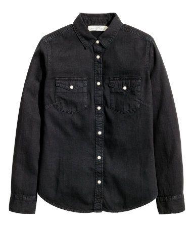 zwarte overhemd blouse