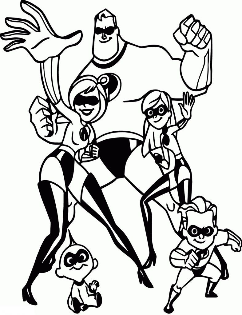 The Incredibles Coloring Pages for Children | 101 Coloring ...