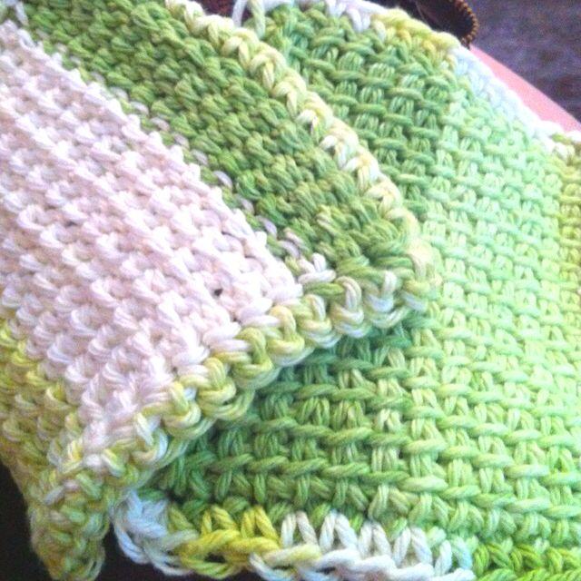 Tunisian Crochet Dishcloth Make Base Chain For Desired Width These
