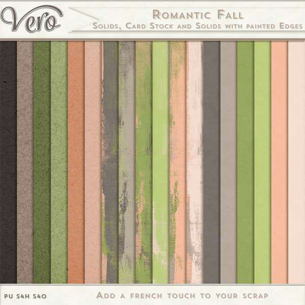 Personal Use :: Romantic Fall [Solids, Card Stock and Solids with painted edges]