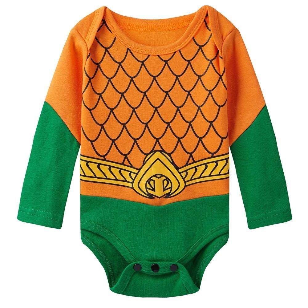 Marsherun Babys Boys Girls England British Lion Long Sleeve Bodysuit Playsuit
