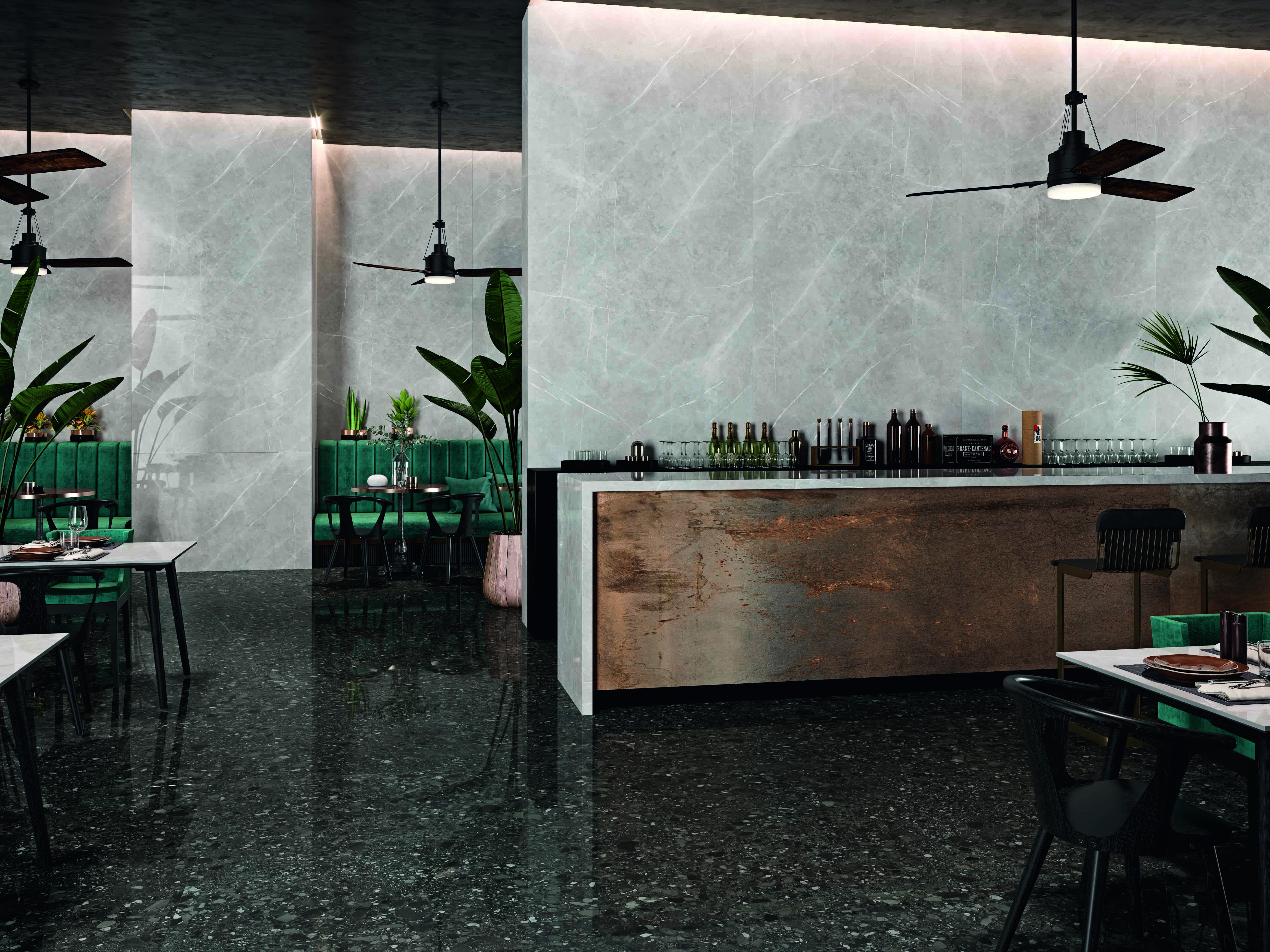 Lending an air of luxury to any setting, the patterned veining of Ceralsio Bianco Silver will draw the eye and create a striking impression, making it perfect for areas of the kitchen such as an island unit where it will be a focal point.  #luxurykitchen #luxurykitchendesigns #marbleeffect #ceramickitchen #kitchendesign #kitchenisland #kitchenislandideas #kitchenislanddecor #countertops #countertopideas