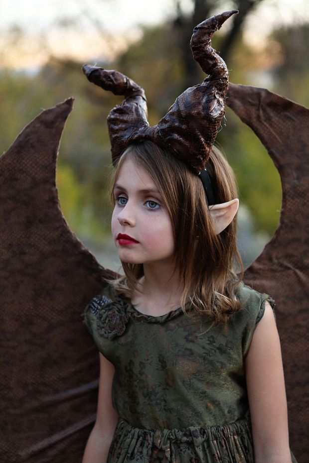 Young Maleficent Diy Costume Dear Lizzy Halloween Ideas