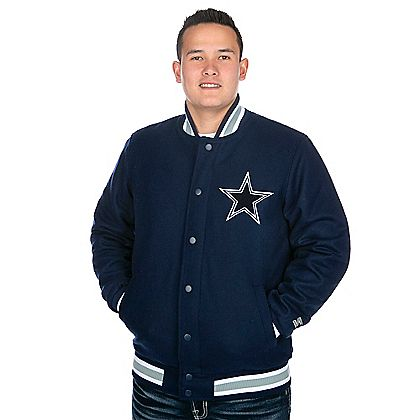 6e6cb2f1e Dallas Cowboys Starter Wool Varsity Jacket