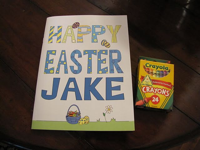 Personalized Easter Coloring Books Tell A Story With The Childs Name