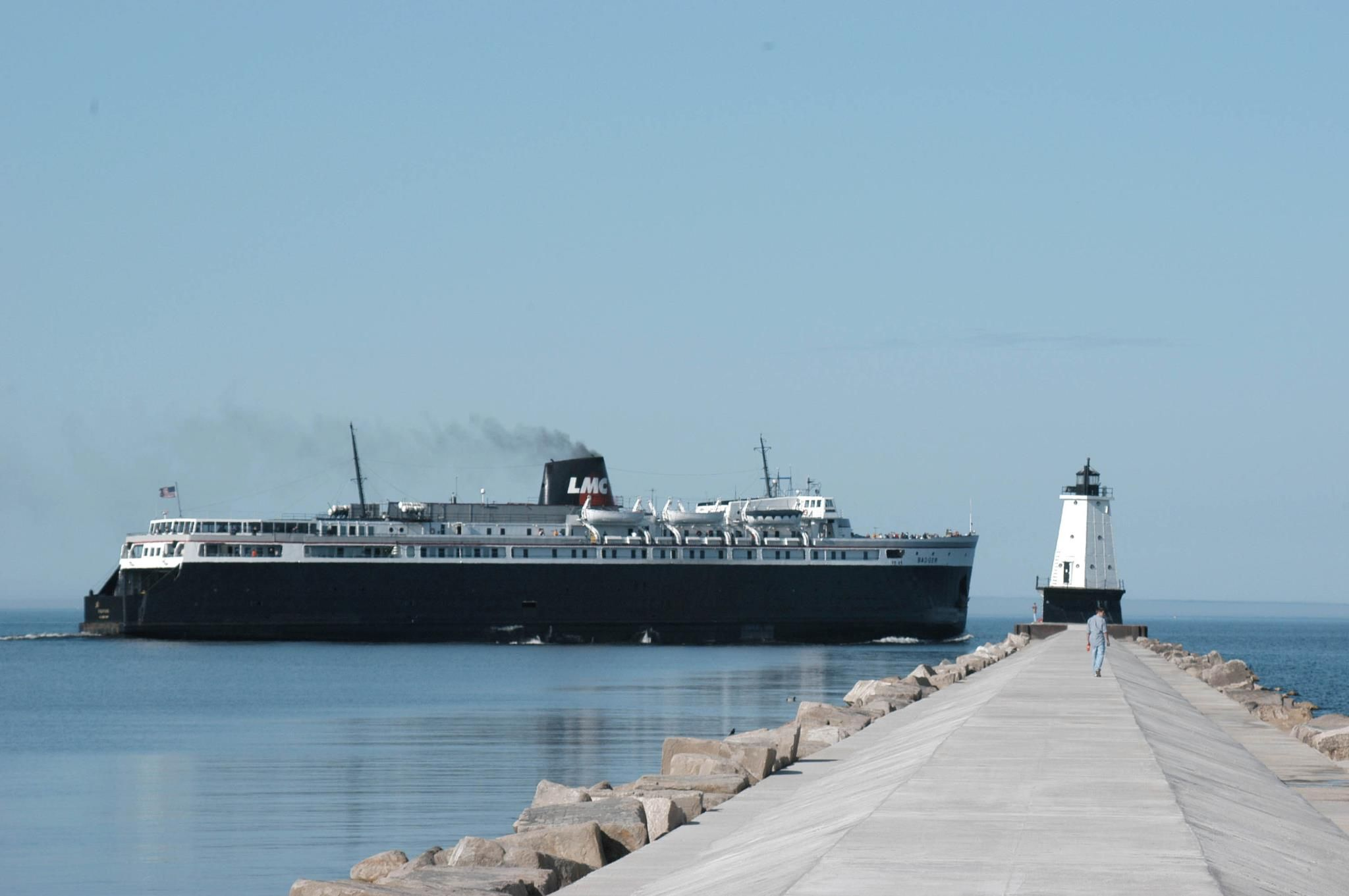 badger leaving ludington boats of the great lakes pinterest lakes rh pinterest com