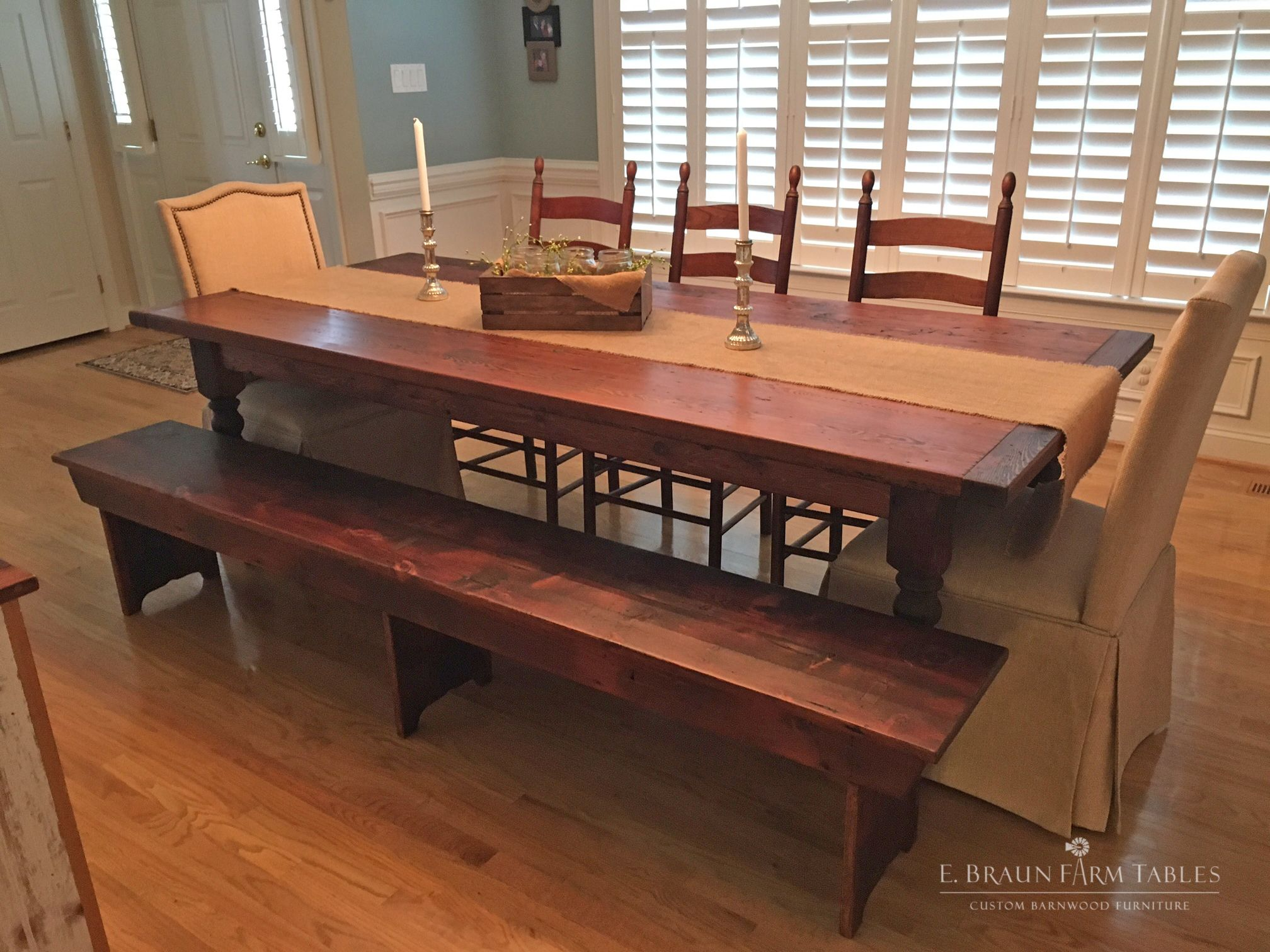 reclaimed barn wood table farm table and matching barn wood bench rh pinterest com