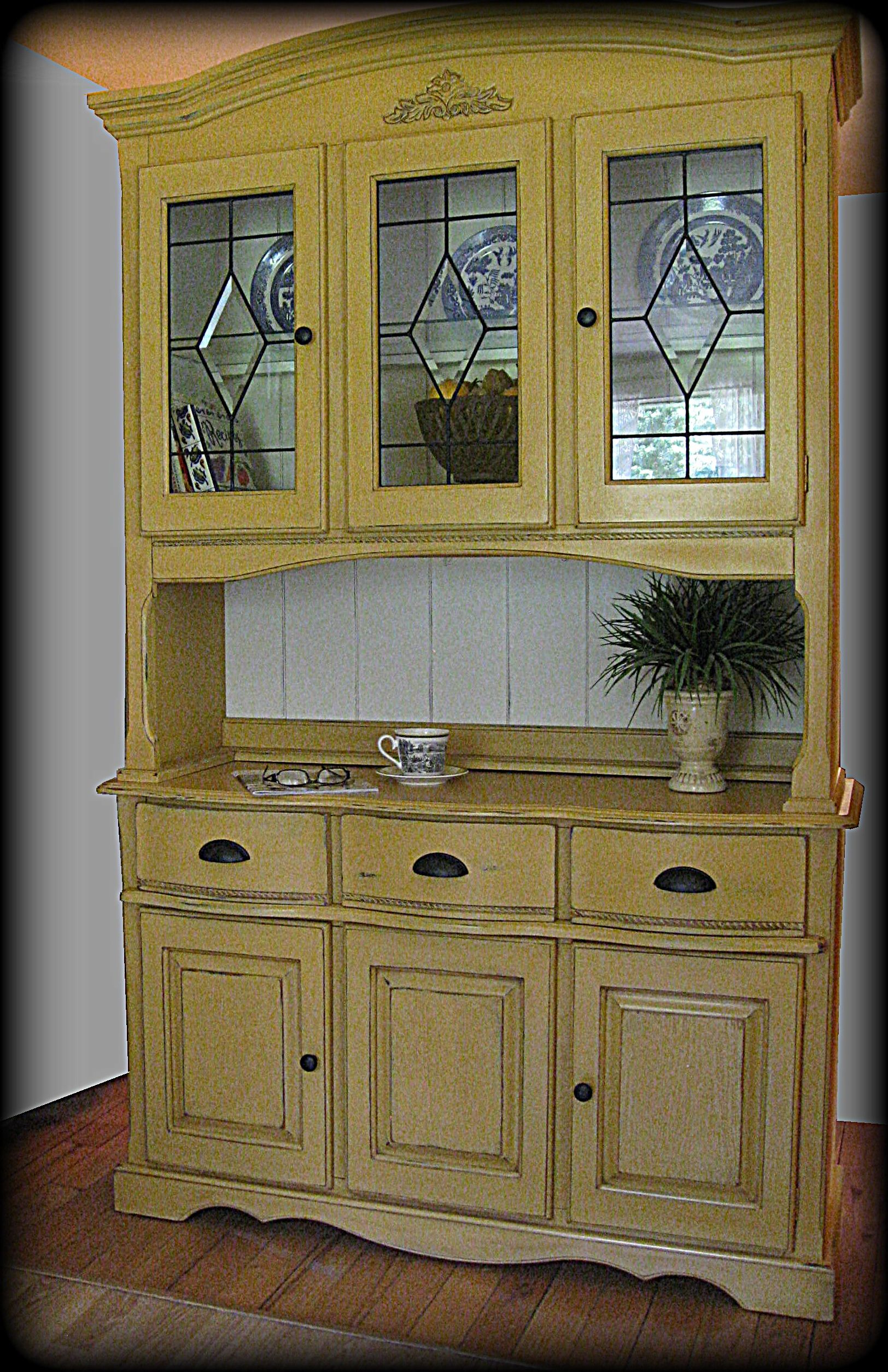 Anna s Yellow Farmhouse Hutch