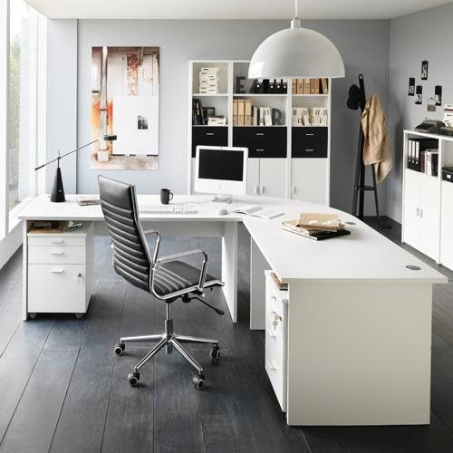 tr s beau bureau design dans un beau d cor d coration du bureau pinterest bureau design. Black Bedroom Furniture Sets. Home Design Ideas