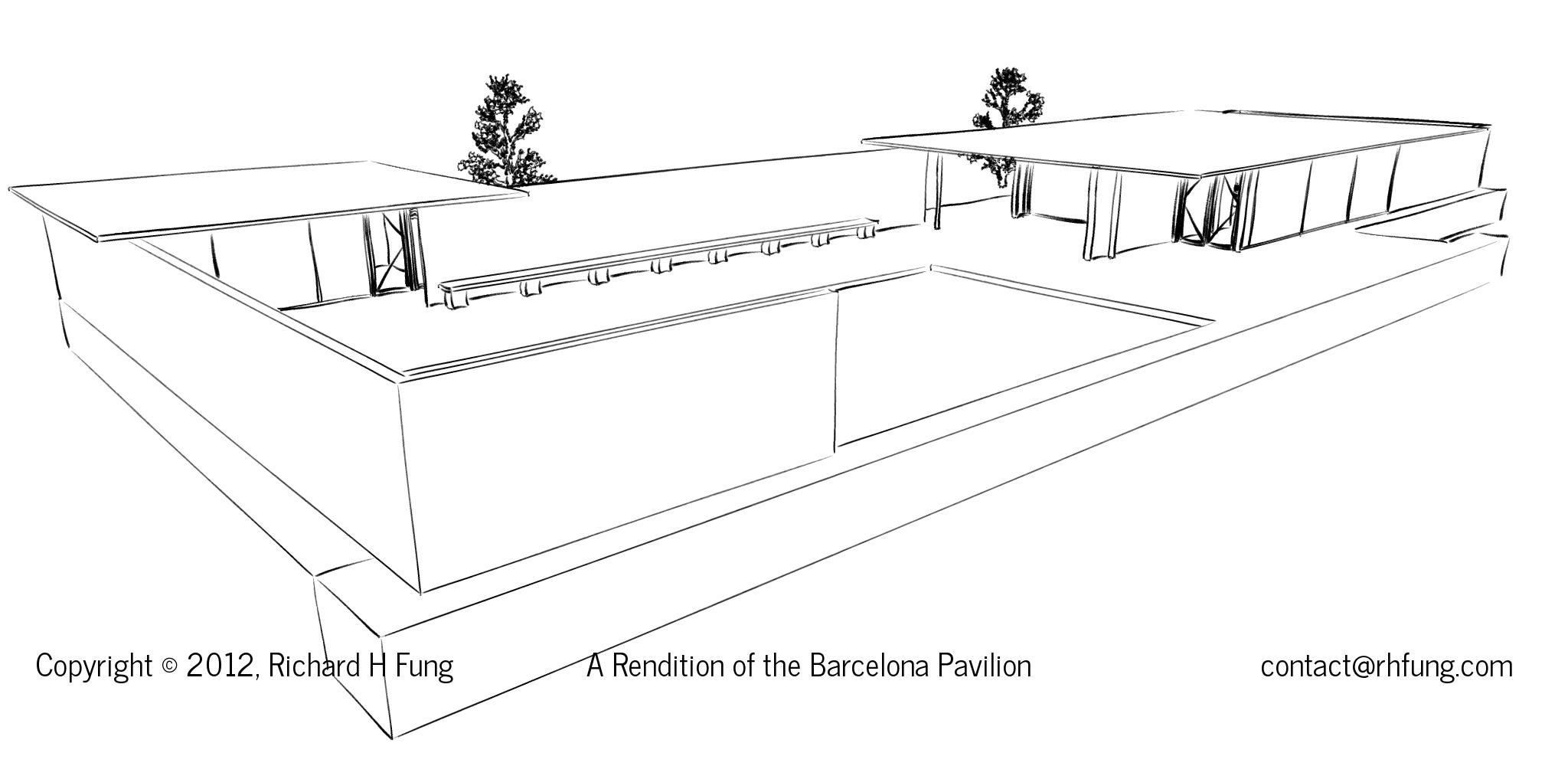 Barcelona Pavilion Floor Plan In 3d In