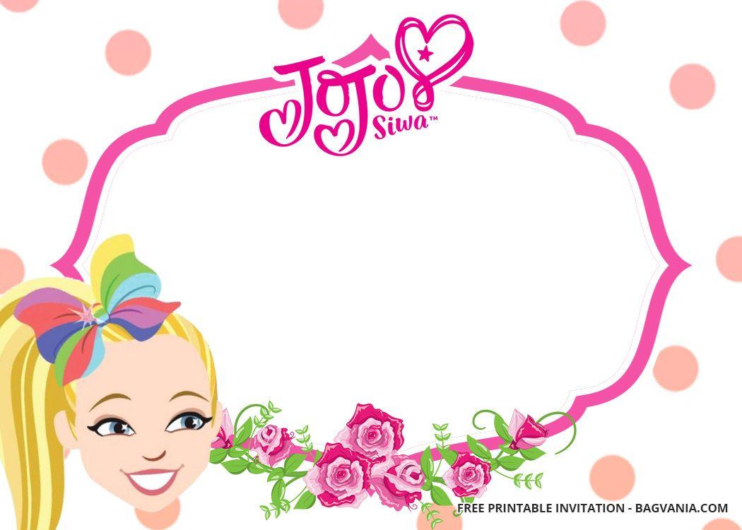 Free Jojo Siwa Birthday Invitation Templates Printable Birthday Invitations Free Printable Birthday Invitations Birthday Party Invitations Free