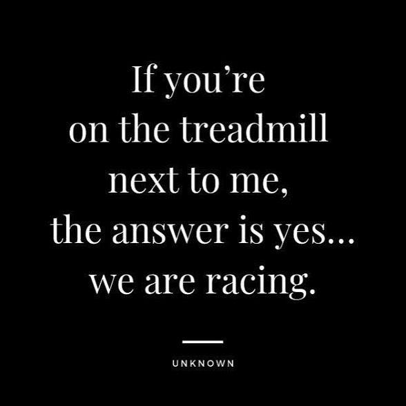 «Si tu es sur le tapis à côté de moi,la réponse est oui... on fait la course!» 💪🔥 #gymmotivation #...