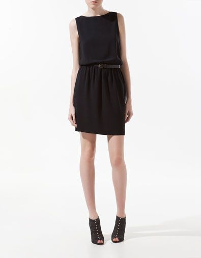 DRESS WITH ELASTICATED WAIST - Dresses - Woman - ZARA