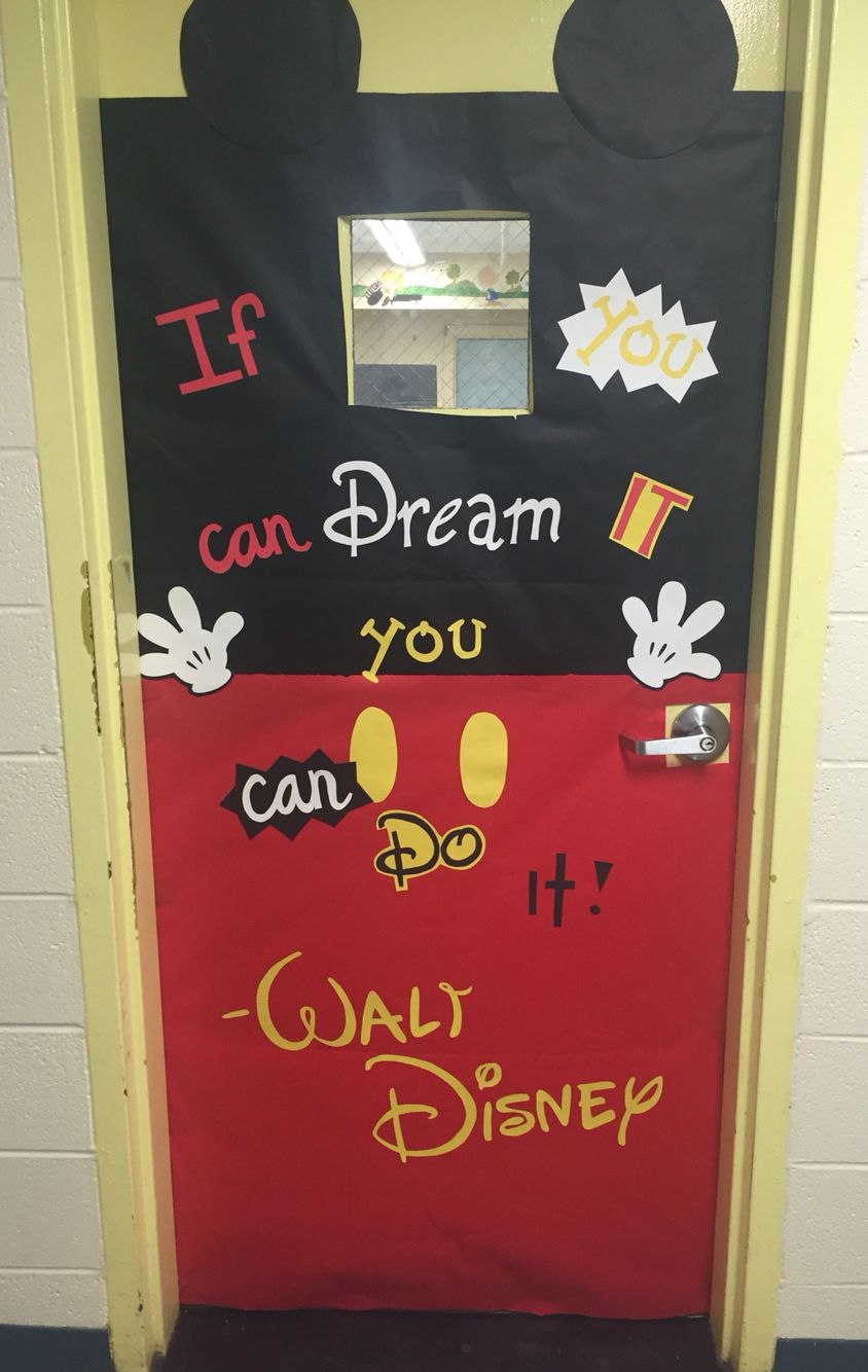 Classroom Decoration Disney ~ Mickey mouse classroom door my class pinterest