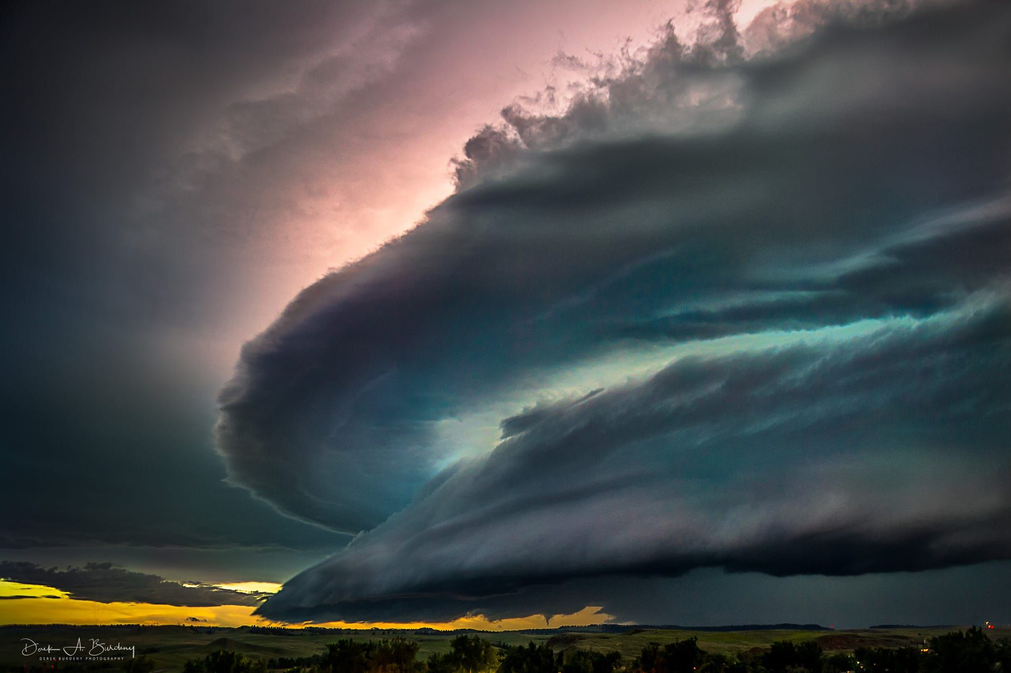 Mothership Supercell Thunderstorm With Distant Tornado