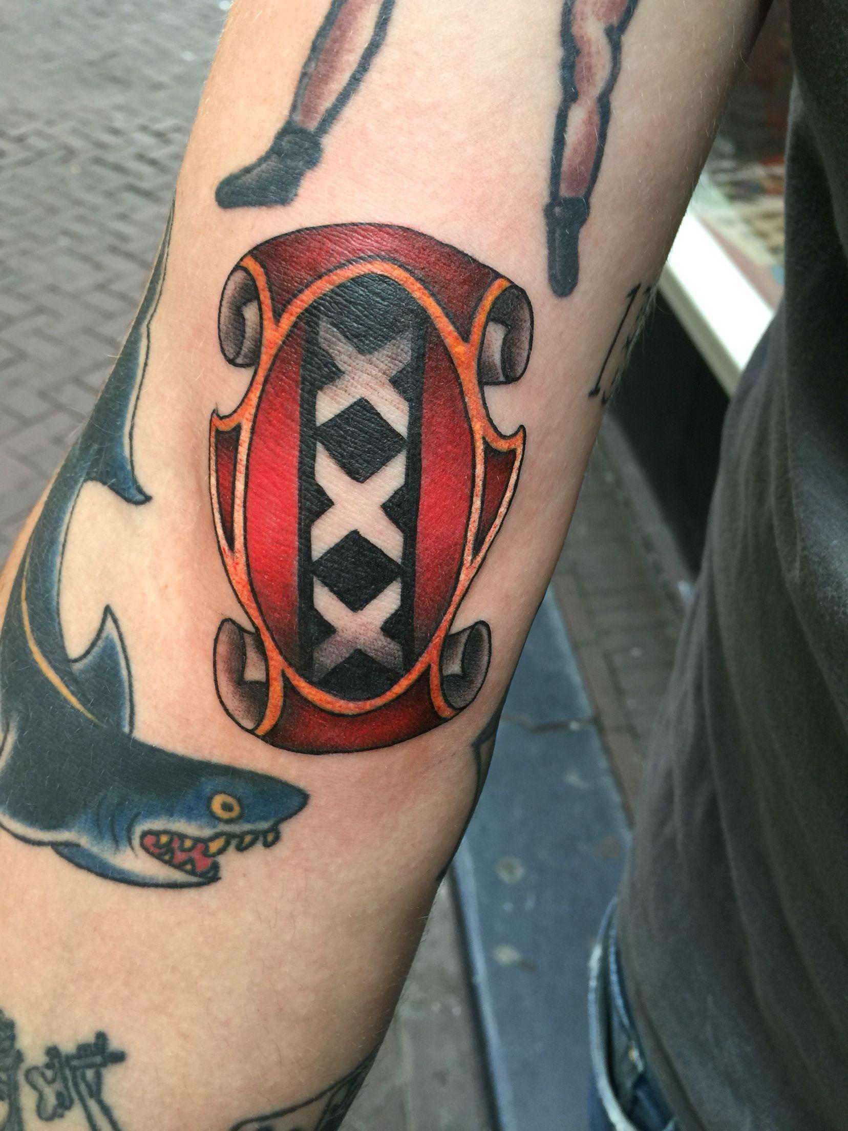 Amsterdam tattoo by peter toornvliet tatoeages tatoeage