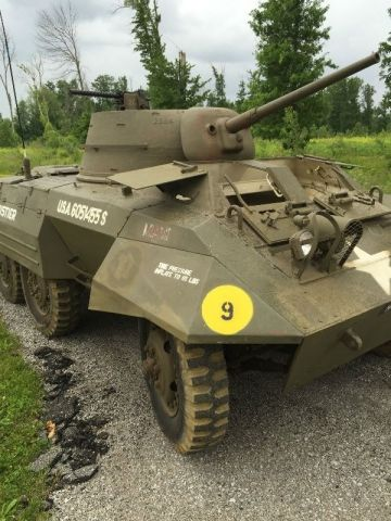 Rare and unique U S  M8 Greyhound with 2nd Armored