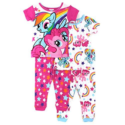 690aa606f My Little Pony Toddler 4 pc Cotton Pajamas Set (2T) Hasbro http ...