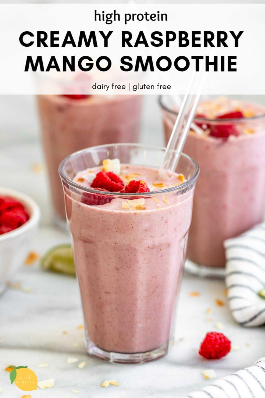 Dairy Free Mango Raspberry Smoothie Recipe Raspberry Smoothie