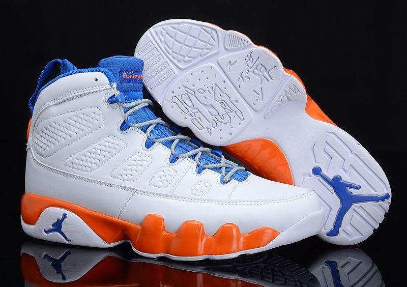 sports shoes 45722 3a0e3 Air Jordan 9 Retro Fontay Montana White Blue Orange 302370 040