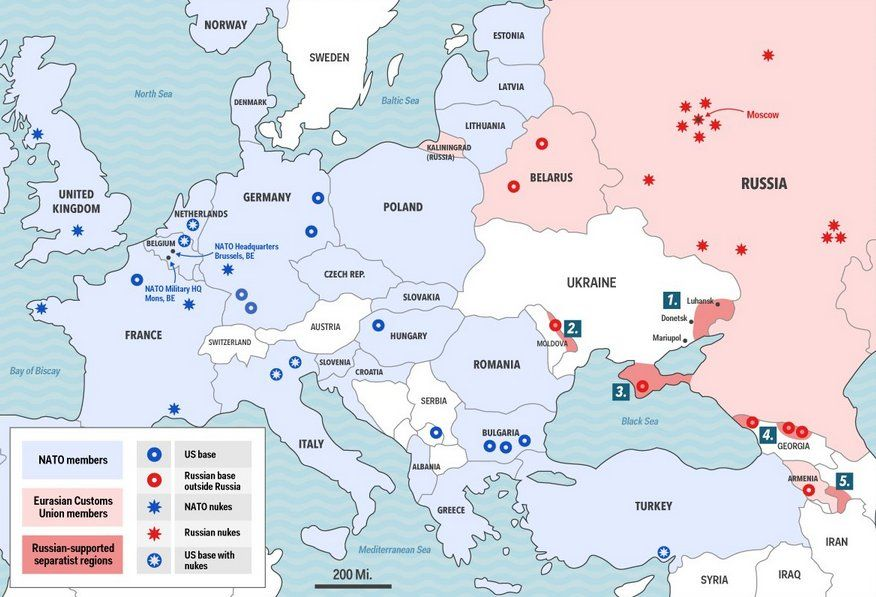 NATO Is Planning Its Largest Military Buildup In Eastern Europe - Map Of All Us Military Bases In The World