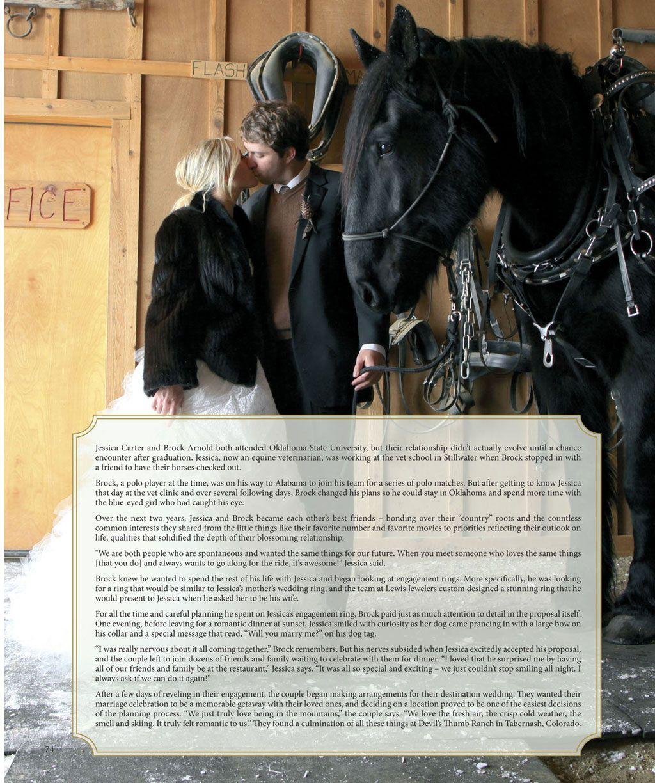 Jessica Carter Brock Arnold Both Horse Lovers In Oklahoma Brides Of Oklahoma Horse Wedding Wedding Guide Oklahoma Wedding