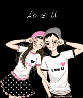 Cartoon Korean Couple Pasangan Anime Lucu Kartun Animasi