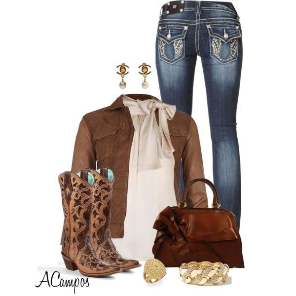 Kickin It Cowgirl Style, created by anna-campos on Polyvore