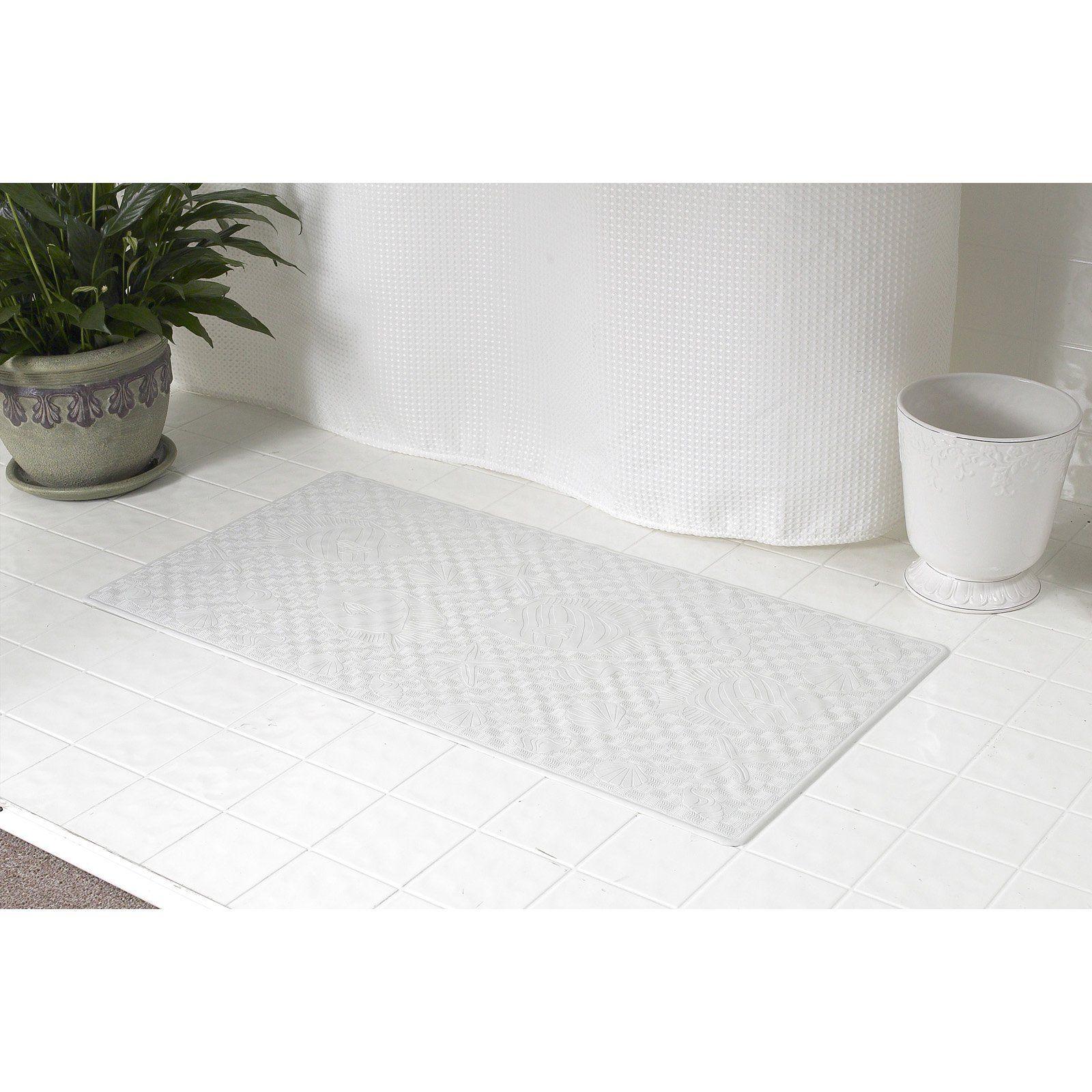 Carnation Home Fashions Rubber Shower Mat Bathtub Mat Tub Mat
